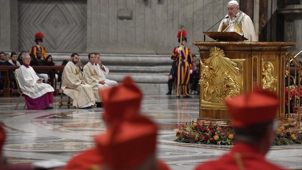 В последний день ушедшего 2019 года Папа Франциск размышлял о том, каким должен быть наш отклик на присутствие среди нас Бога