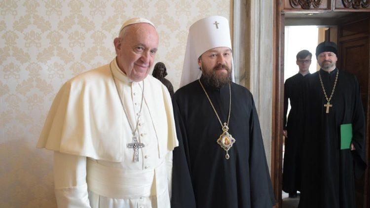 Папа Франциск принял главу делегации Московского Патриархата