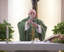 На Мессе в Доме Святой Марфы Папа Франциск размышлял о важности самоуничижения