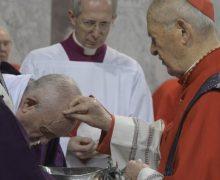 Папа Франциск возглавил в Риме традиционное богослужение Пепельной среды