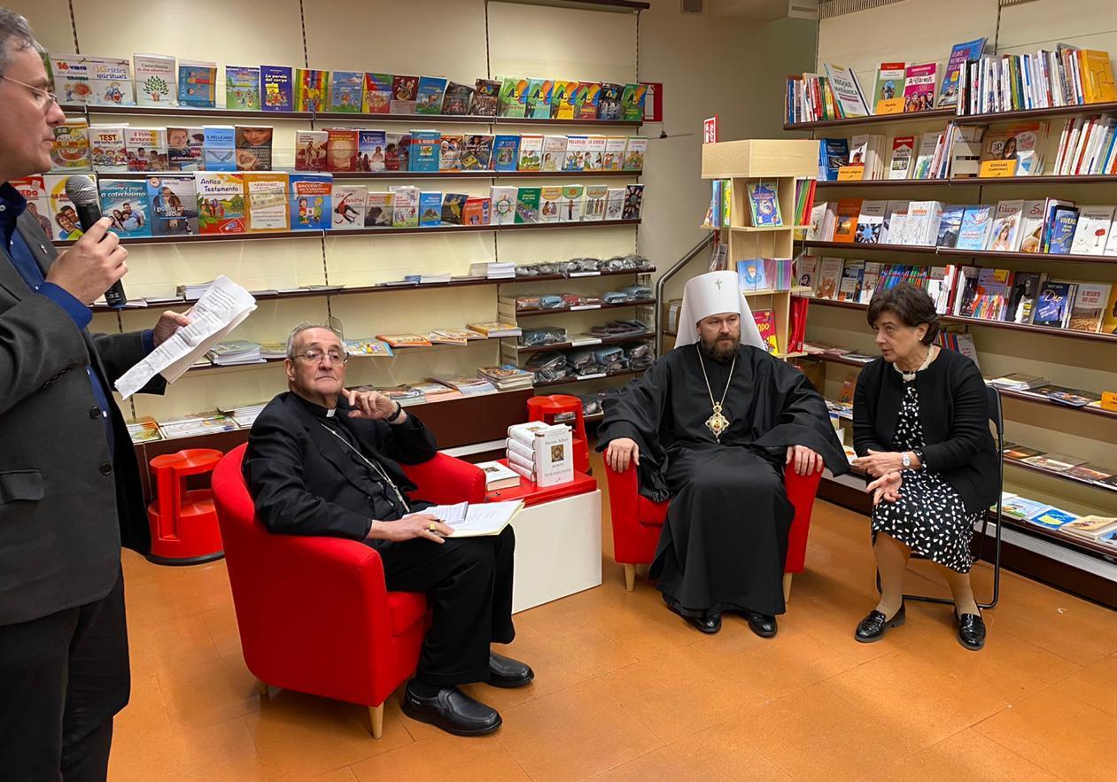 Рабочая поездка митрополита Илариона (Алфеева) в Рим завершилась презентацией итальянского перевода его книги «Иисус Христос. Жизнь и учение»