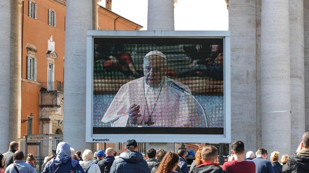 Слово Папы Франциска перед чтением молитвы «Ангел Господень» во 2-е воскресенье Великого Поста. 8 марта 2020 г., трансляция из Частной библиотеки Апостольского дворца