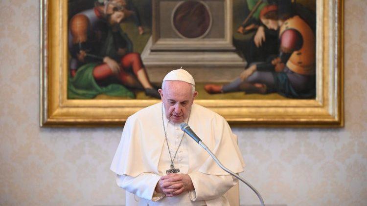 Папа Франциск указал на роль святой Екатерины Сиенской и святого Иосифа как наших небесных заступников
