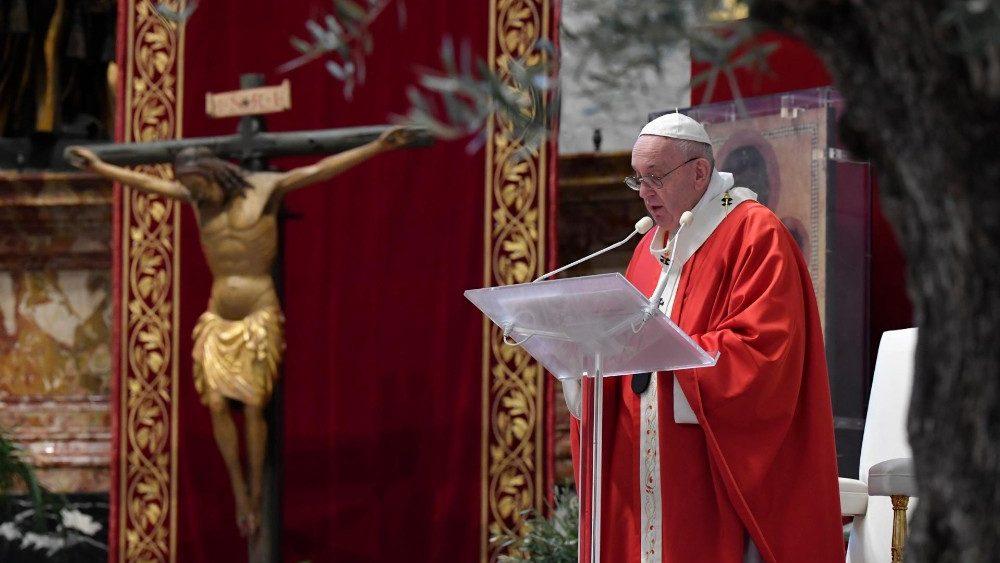 Проповедь Папы Франциска на Святой Мессе Вербного воскресенья. 5 апреля 2020 г., собор Святого Петра