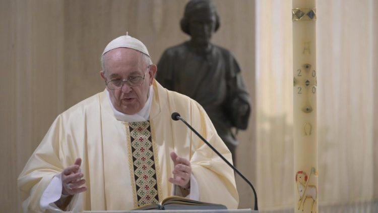 На Мессе в Доме Святой Марфы Папа Франциск напомнил, что Христос желает единства внутри Церкви
