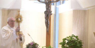 На Мессе в Доме Святой Марфы Папа Франциск призвал не бояться Света Христова