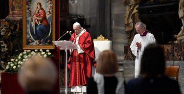 На Мессе в день Пятидесятницы Папа Франциск говорил о Святом Духе как Творце единства Церкви