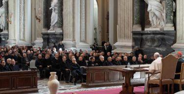 Папа Франциск обратился с посланием к священникам Римской епархии