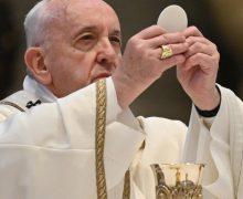 Папа Франциск возглавил Святую Мессу в торжество Пресвятых Тела и Крови Христовых в соборе Святого Петра
