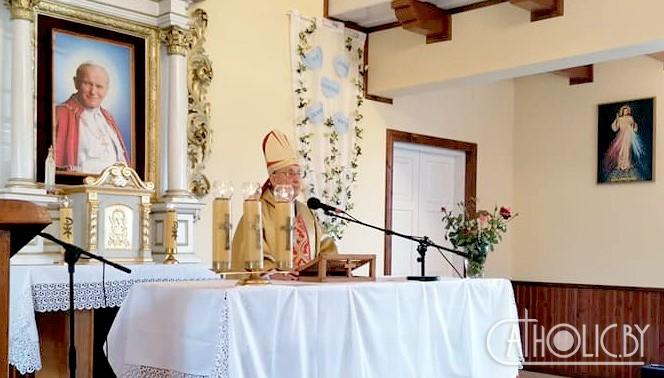 Архиепископ Тадеуш Кондрусевич помолился за Беларусь в небольшом местечке Орля на Белостокщине (ФОТО)