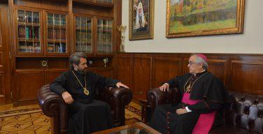 Состоялась встреча Апостольского нунция в РФ с главой ОВЦС