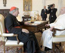 Папа встретился с кардиналом Джорджем Пеллом