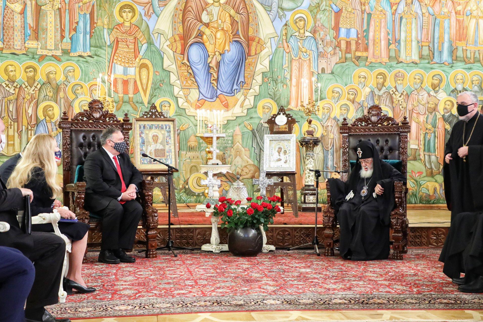 Госсекретарь США встретился с Патриархом Грузии Илией II