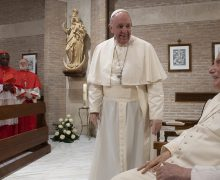 Папа и новые кардиналы посетили Бенедикта XVI (+ ФОТО)