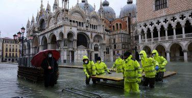 Базилика Святого Марка вновь оказалась подтоплена из-за «высокой воды» в Венеции
