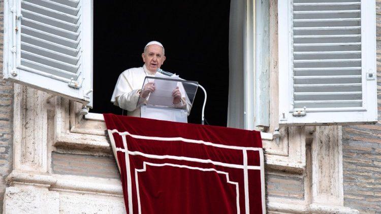 Слово Папы Франциска перед чтением молитвы «Ангел Господень» в 3-е воскресенье Адвента. 13 декабря 2020 г., площадь Св. Петра