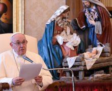 Папа Франциск на общей аудиенции: Рождество – это вечный огонь, возженный Богом в мире