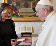 Папа Франциск встретился с президентом Словакии (+ ФОТО)