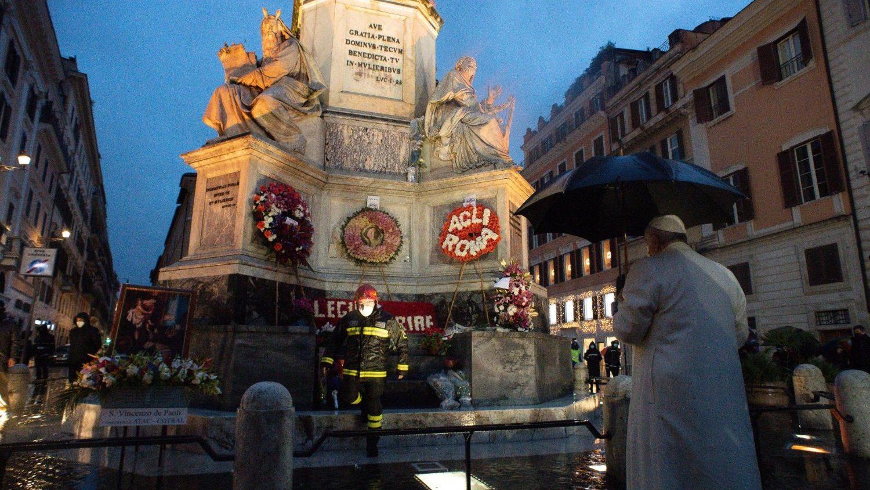 На площади Испании Папа вверил Рим и весь мир Пресвятой Деве