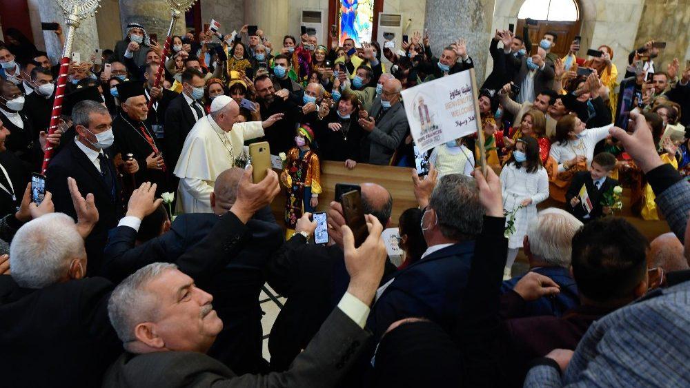 Третий день Апостольского визита: Папа Франциск посещает Эрбиль, Мосул и Каракош