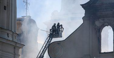 Пожар в Будсловском национальном санктуарии Белоруссии
