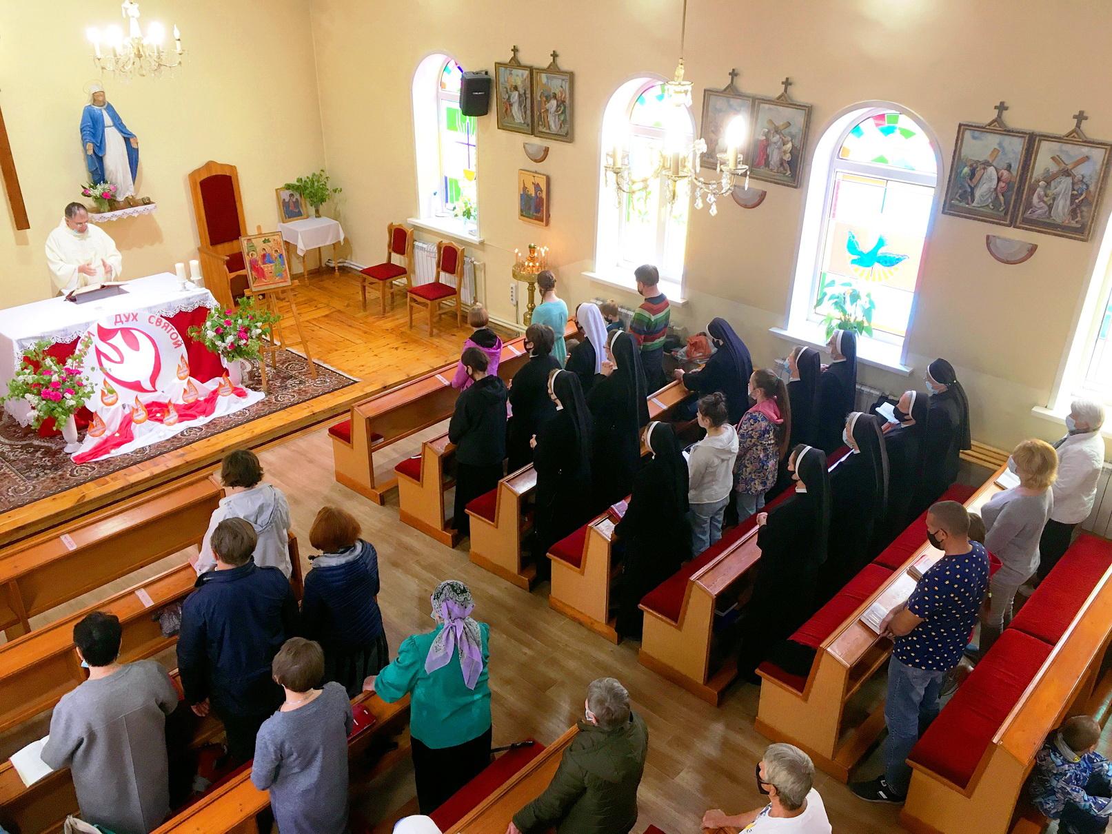 Опекаемая отцами-францисканцами новосибирская католическая община отметила свой приходской праздник