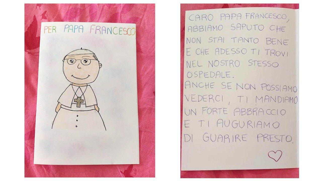 Дети пожелали Папе скорейшего выздоровления