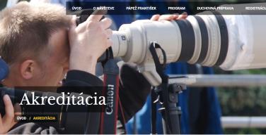 Визит Папы в Словакию: уже началась аккредитация представителей СМИ