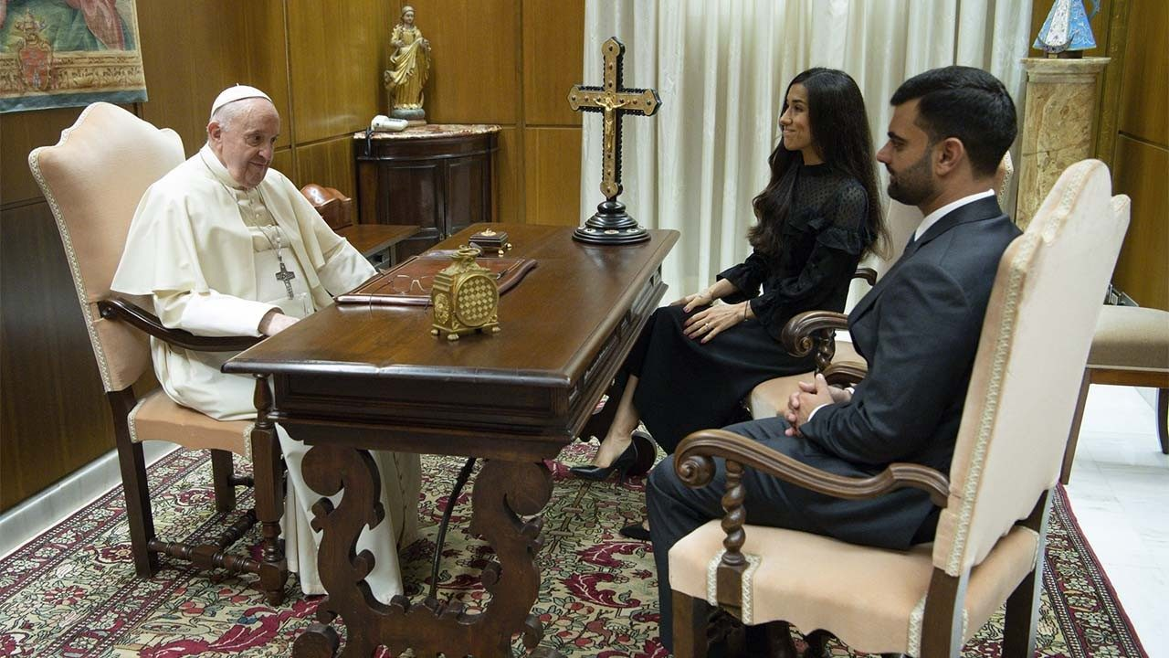 Папа Франциск встретился с лауреатом Нобелевской премии мира Надей Мурад