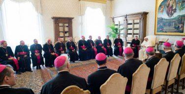 Папа Франциск два с половиной часа беседовал с французскими епископами