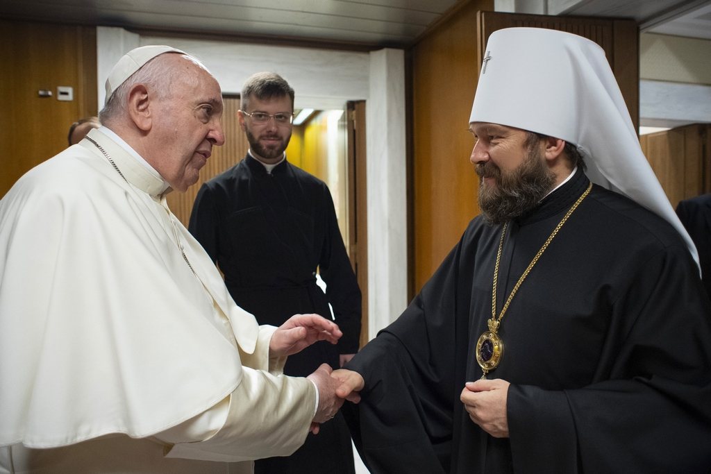 Папа Франциск встретился с председателем ОВЦС