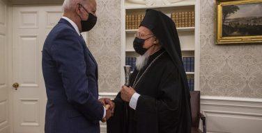 Патриарх Варфоломей встретился с Байденом и обсудил с ним борьбу с пандемией