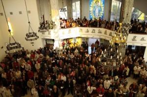 Участники богослужения