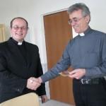 О. Айгарс Бернанс и епископ Иосиф Верт