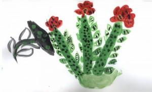 Красота у кактуса внутри