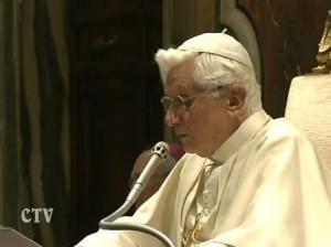 Обращение Бенедикта XVI к участникам пленарной сессии Конгрегации вероучения