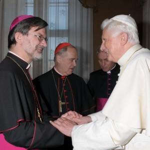 Епископ Клеменс Пиккель с Папой Бенедиктом XVI