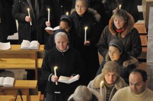 Праздник Сретения Господня в кафедральном соборе Новосибирска