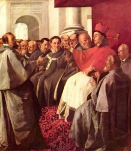Св. Бонавентура принимает послов византийского императора на II Лионском Вселенском Соборе