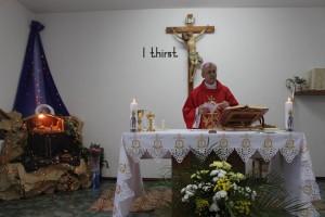 Владыка Иосиф Верт возглавил Мессу в Доме Сестер Матери Терезы. 26 декабря 2014 г.