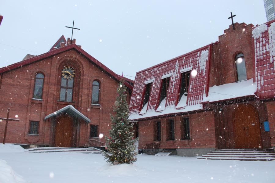 Празднование торжества Богоявления в Кафедральном соборе Новосибирска (ФОТО)