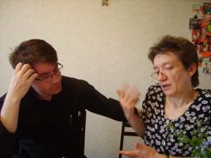 Отец Лешек Хричук и госпожа Регина Гюнтер