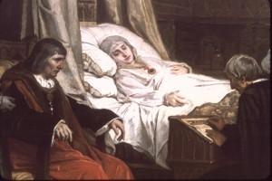 Иньиго де Лойола во время болезни