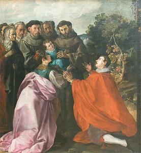 Исцеление св. Франциском Ассизским младенца Бонавентуры