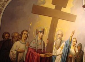 Императрица Елена у Креста