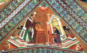 Папа Григорий. Фреска Джотто в храме Св. Франциска