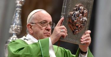 Проповедь Папы Франциска на заключительной Мессе Синода епископов, посвященного браку и семье. Собор Святого Петра, 25 октября 2015 г.