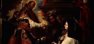 Мистические переживания св. Терезы Авильской принимающей Святое Причастие