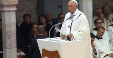 Проповедь Папы Франциска на Св. Мессе в Ассизи