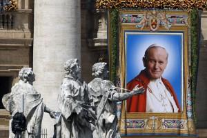 На площади Св. Петра в день беатификации Иоанна Павла II 1 мая 2011 г.